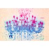 "Fluorescent Palace ""Liquid Chandelier Cream"" Canvas Art"