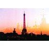 "Fluorescent Palace ""Summer In Paris Orange"" Canvas Art"