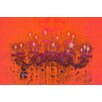 "Fluorescent Palace ""Liquid Chandelier Orange"" Canvas Art"