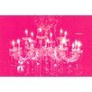 "Fluorescent Palace ""Liquid Chandelier Pink"" Canvas Art"