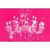 "Fluorescent Palace ""Liquid Chandelier Pink"" Canvas Art"