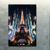 "Fluorescent Palace ""Midnight In Paris"" Canvas Art"