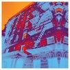 "Fluorescent Palace ""Crystal Highrise"" Canvas Art"