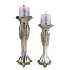 ORE Furniture 2 Piece Metal Votive Candle Holder Set