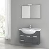 "ACF Bathroom Vanities Phinex 32"" Single Bathroom Vanity Set with Mirror"