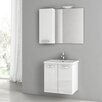 "ACF Bathroom Vanities City Play 22"" Single Bathroom Vanity Set with Mirror"