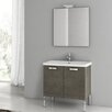 "ACF Bathroom Vanities City Play 30"" Single Bathroom Vanity Set with Mirror"