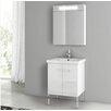 "ACF Bathroom Vanities New York 22"" Single Bathroom Vanity Set with Mirror"