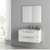 "ACF Bathroom Vanities Dadila 33"" Single Bathroom Vanity Set with Mirror"