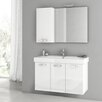 "ACF Bathroom Vanities Cubical 37"" Single Bathroom Vanity Set with Mirror"