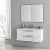 "ACF Bathroom Vanities Dadila 38"" Single Bathroom Vanity Set with Mirror"