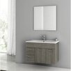 "ACF Bathroom Vanities Loren 33"" Single Bathroom Vanity Set with Mirror"