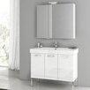 """ACF Bathroom Vanities Cubical 37"""" Double Bathroom Vanity Set"""