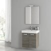 "ACF Bathroom Vanities Cubical 22"" Single Bathroom Vanity Set with Mirror"