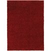 Stylehaven Pizazz Red Plush Shag Area Rug