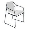 OASIQ Sandur Stacking Dining Arm Chair with Cushion