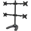 Mount-it Quad Arm Freestanding Monitor Stand for Wide Screen Monitors Up to 27""