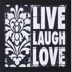 Art Effects 'Live Laugh Love' by Stephanie Marrott Framed Graphic Art
