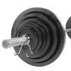 Body Solid 300 lbs Cast Olympic Set with Chrome Bar