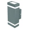 Entasis Rectangular Up / Down Exterior Wall Light Brilliant