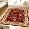 <strong>Classic Red with Ivory Border Traditional Rug</strong> by Network Rugs
