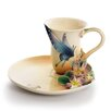 <strong>Spotted Butterfly Cup and Saucer Set</strong> by Franz Collection