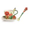 <strong>Franz Collection</strong> Van Gogh Poppy Flower Cup, Saucer and Spoon Set