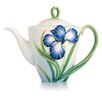 <strong>Eloquent Iris Flower Teapot</strong> by Franz Collection