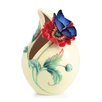 Franz Collection Sweetheart Poppy and Butterfly Vase
