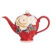 Franz Collection Venice Peony Teapot