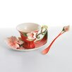 <strong>Franz Collection</strong> Island Beauty Hibiscus Flower Cup, Saucer and Spoon Set