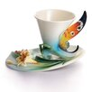 <strong>Franz Collection</strong> Buckeye Butterfly Cup and Saucer Set