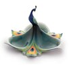 Peacock Splendor Tidbit Serving Dish