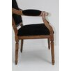 French Arm Chair in Black Stubeker