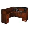 Mayline Group Sorrento Series Reception Desk with Marble Counter