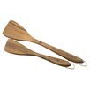 "2 Piece Slotted Wood Turner Set, 10""  & 13"""