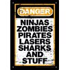 <strong>NMR Distribution</strong> Zombie - Danger Stuff Tin Sign Textual Art