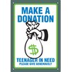 <strong>Make A Donation Tin Sign Vintage Advertisement</strong> by NMR Distribution