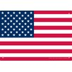 NMR Distribution USA Flag Tin Sign Graphic Art