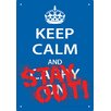 NMR Distribution Keep Calm Stay Out Tin Sign Textual Art