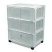 "Iris 26"" 3-Drawer Wide Cart"