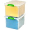 Iris Letter/Legal File Box with Latches and Glides (Set of 4)