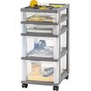 "Iris 26"" 4-Drawer Cart"