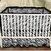 <strong>Sin In Linen</strong> Zebra Baby Play Blanket in Black