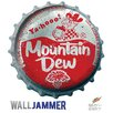 "Advanced Graphics ""Mountain Dew Bottle Cap"" Wall Decal"
