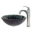 <strong>Kraus</strong> Kratos Glass Vessel Sink with Riviera Faucet