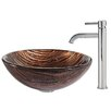 <strong>Kraus</strong> Gaia Glass Vessel Sink with Ramus Faucet