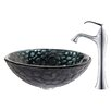 <strong>Kraus</strong> Kratos Glass Vessel Sink with Ventus Faucet