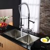 "<strong>Kraus</strong> 32.75"" x 19"" x 10""  8 Piece Undermount Double Bowl Kitchen Sink Set"