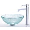 "Broken Glass 14"" Vessel Sink and Ramus Faucet"